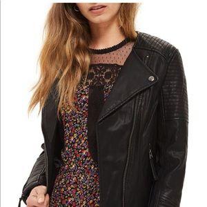 Top Shop Luna Faux Leather Biker Jacket